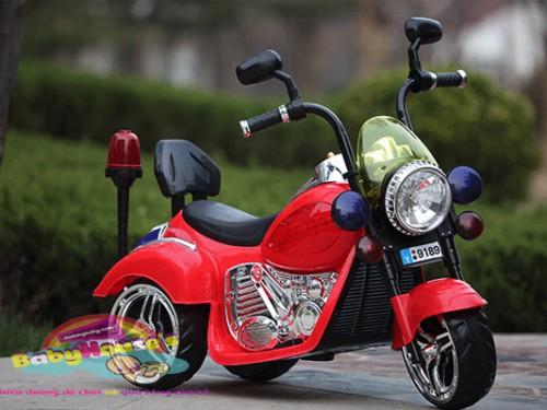 Xe máy điện trẻ em| xe máy điện trẻ em Hacley 9189 cảnh sát