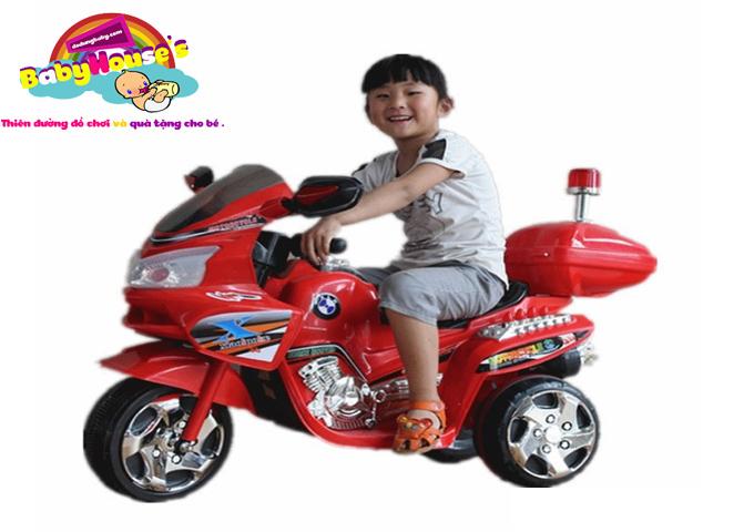 Xe máy điện trẻ em police 3198|Xe máy chạy điện trẻ em