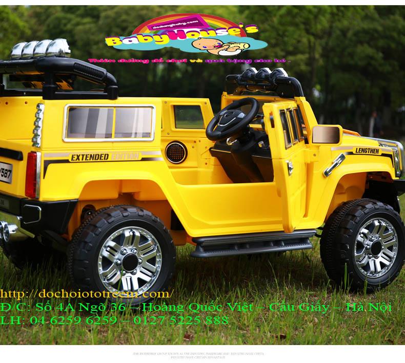 Ô tô điện trẻ em JJ255A màu vàng