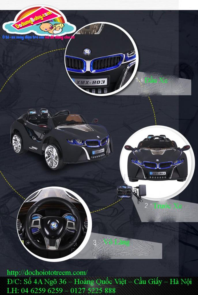 Ô tô điện cao cấp cho bé XMX803