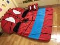 Nệm hình thú cao cấp hình người nhện ruột cao su non (4)