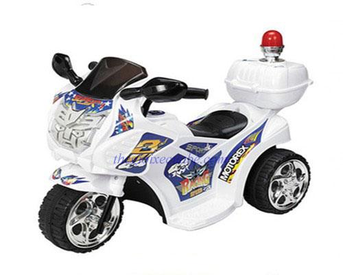 Xe máy điện trẻ em cao cấp Police 99071 trắng