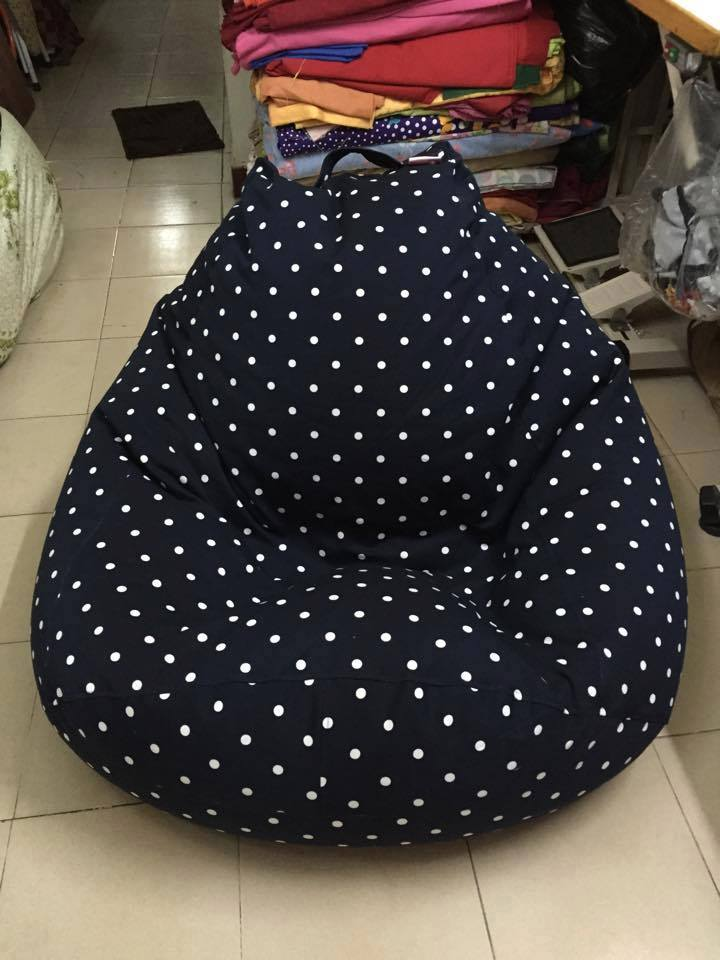 ghế lười hạt xốp quả lê đen