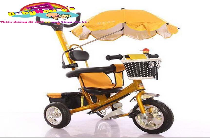 xe ba bánh đẩy trẻ em cao cấp 5190