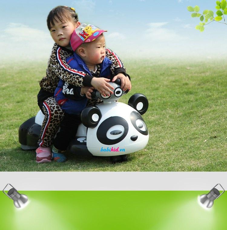 xe lắc trẻ em gấu Panda