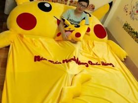Đệm hình thú Pikachu ruột cao su non (4)
