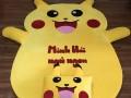 Đệm hình thú Pikachu ruột cao su non (5)