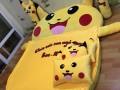 Đệm hình thú Pikachu ruột cao su non (6)