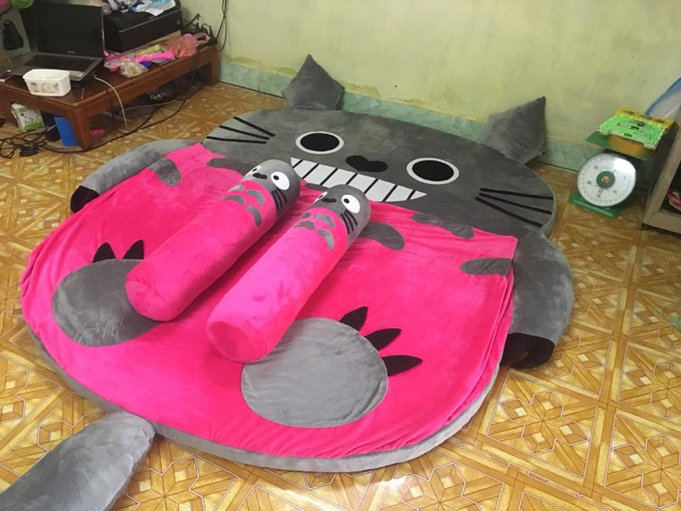 Nệm hình thú Totoro ruột cao su