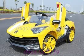 Xe ô tô điện trẻ em Lamborghini 8188 màu vàng