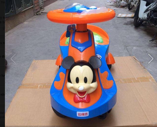 xe lắc trẻ em BJ-288 màu xanh cam
