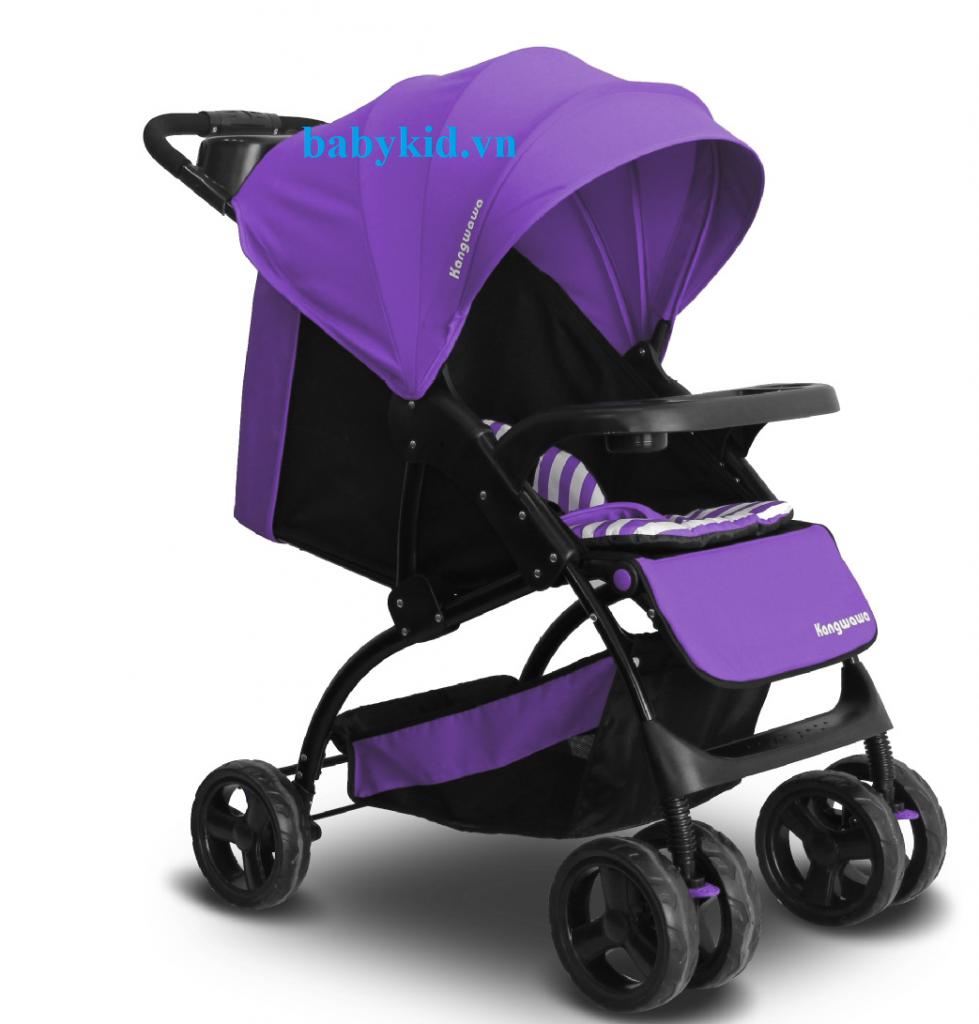 Xe đẩy trẻ em CC606A màu tím
