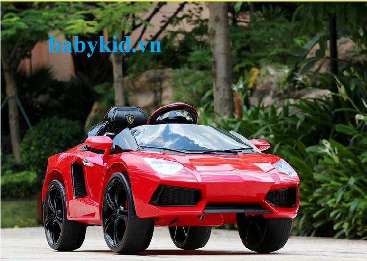Xe ô tô điện trẻ em LB-6618 màu đỏ