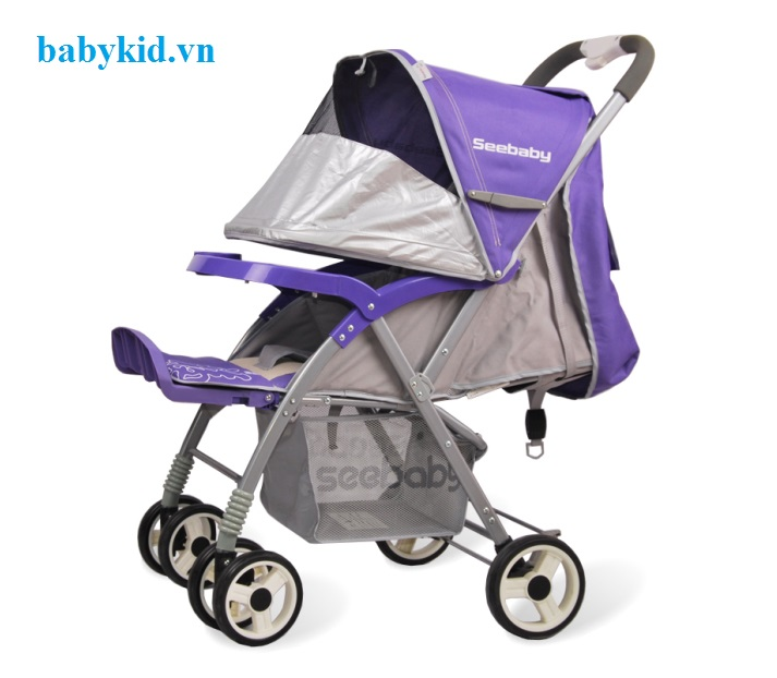Xe đẩy trẻ em Seebaby T08 màu tím