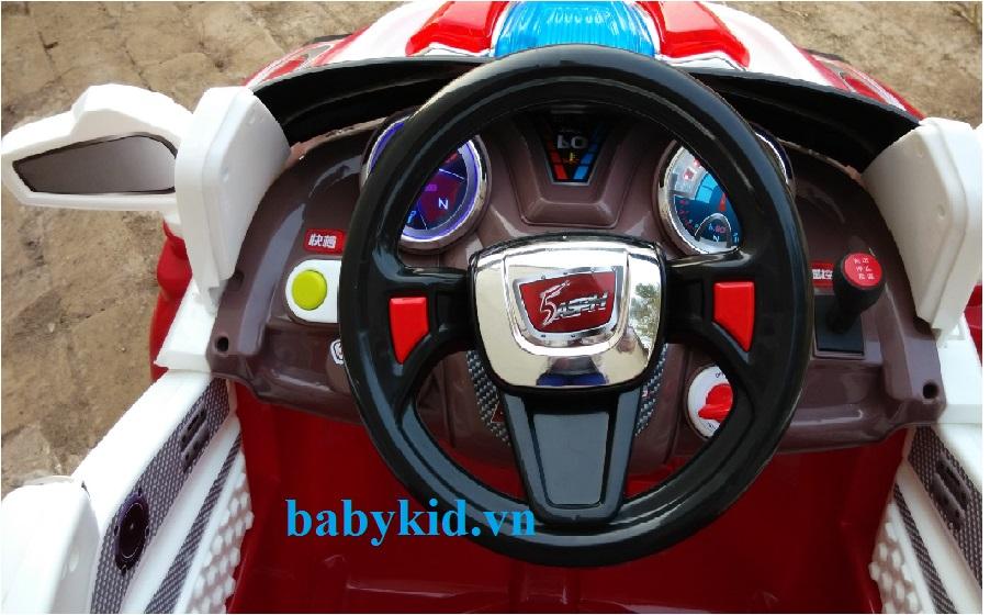 xe ô tô điện trẻ em BLK-818 kiểu dáng quân sự mạnh mẽ