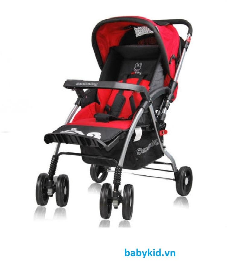 Xe đẩy trẻ em Seebaby T08 màu đỏ