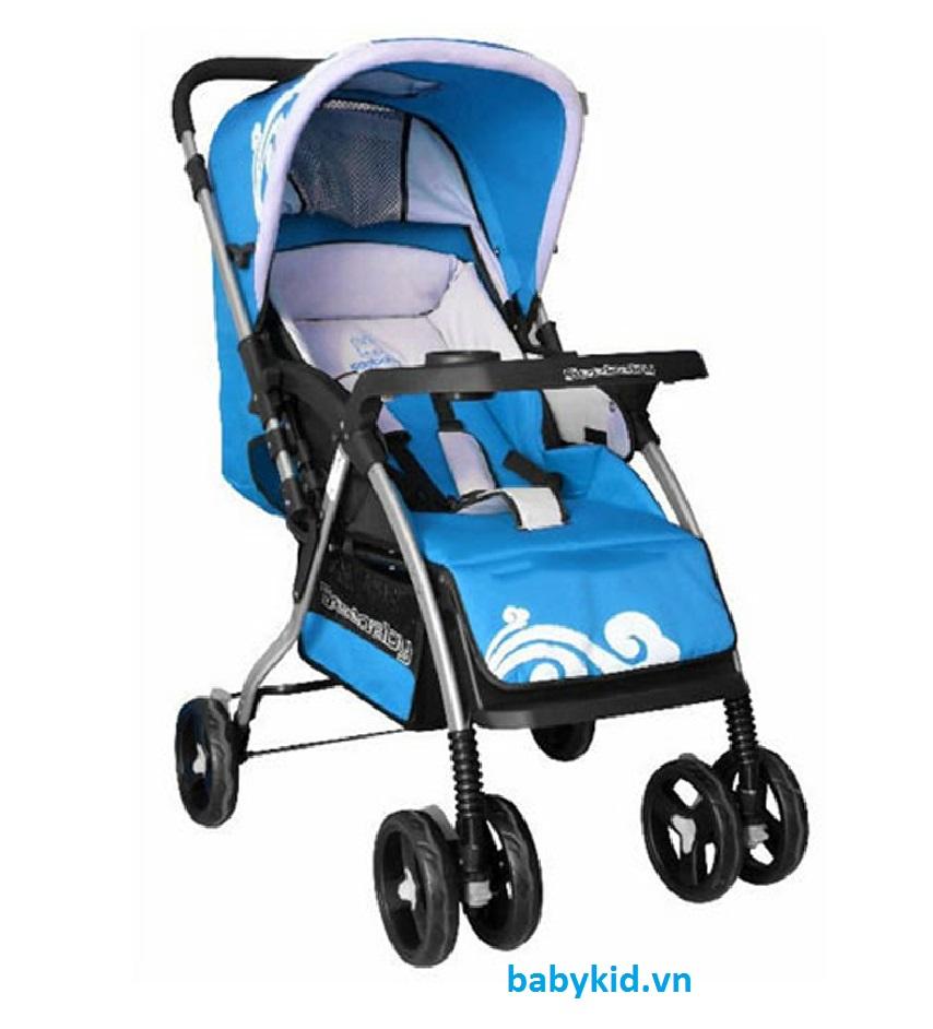 Xe đẩy trẻ em Seebaby T08 màu xanh dương