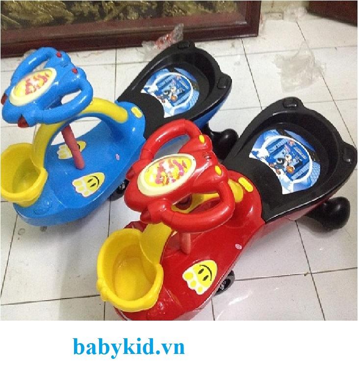 Xe lắc trẻ em ST-518 có giỏ