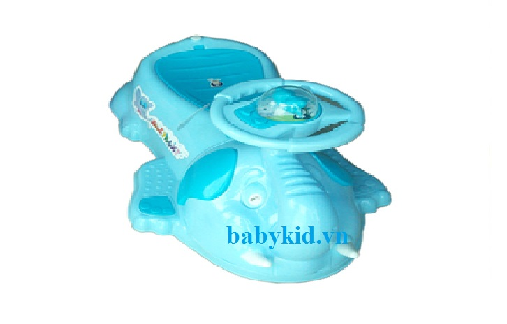 Xe lắc trẻ em 801A màu xanh