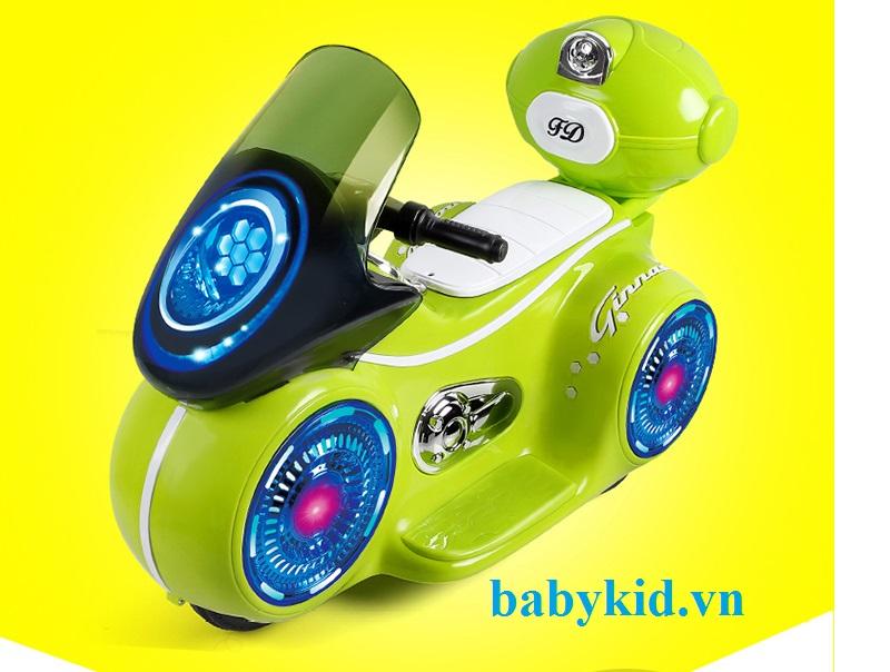 xe máy điện trẻ em 9803-xanh com