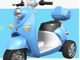 Xe máy điện trẻ em QK-303 màu xanh