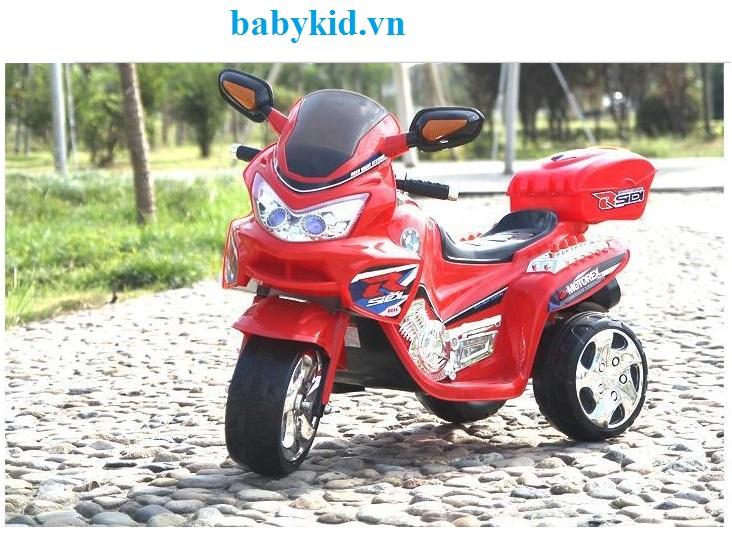 Xe máy điện trẻ em BMW-6189 màu đỏ