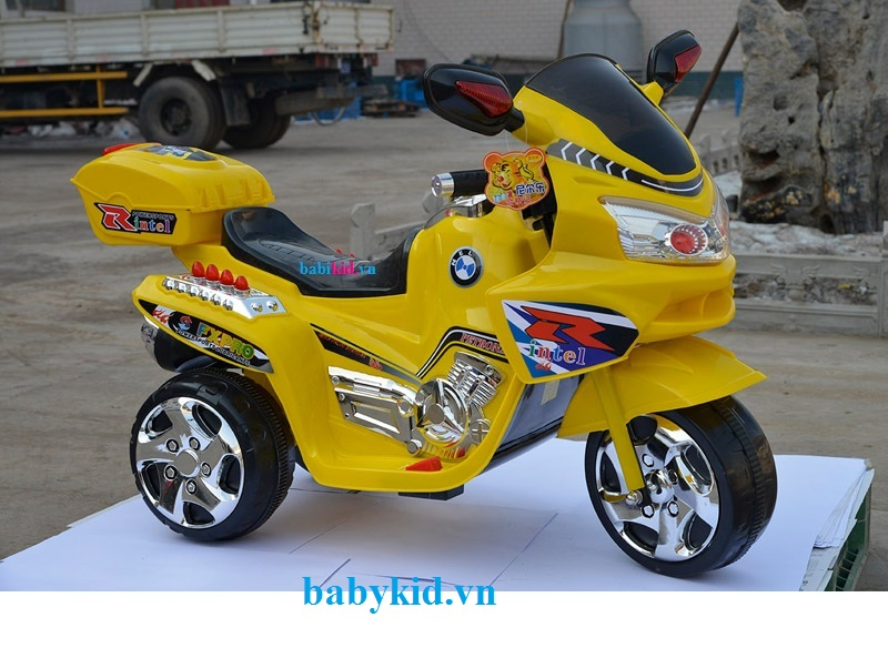 Xe máy điện trẻ em BMW-6189 màu vàng