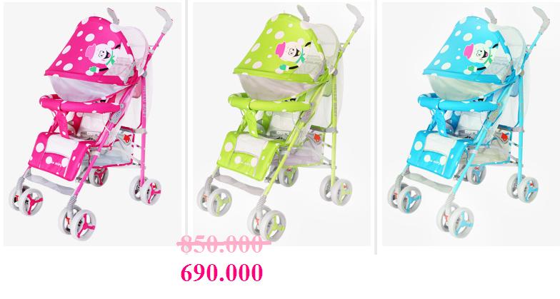 xe đẩy trẻ em HP-308N