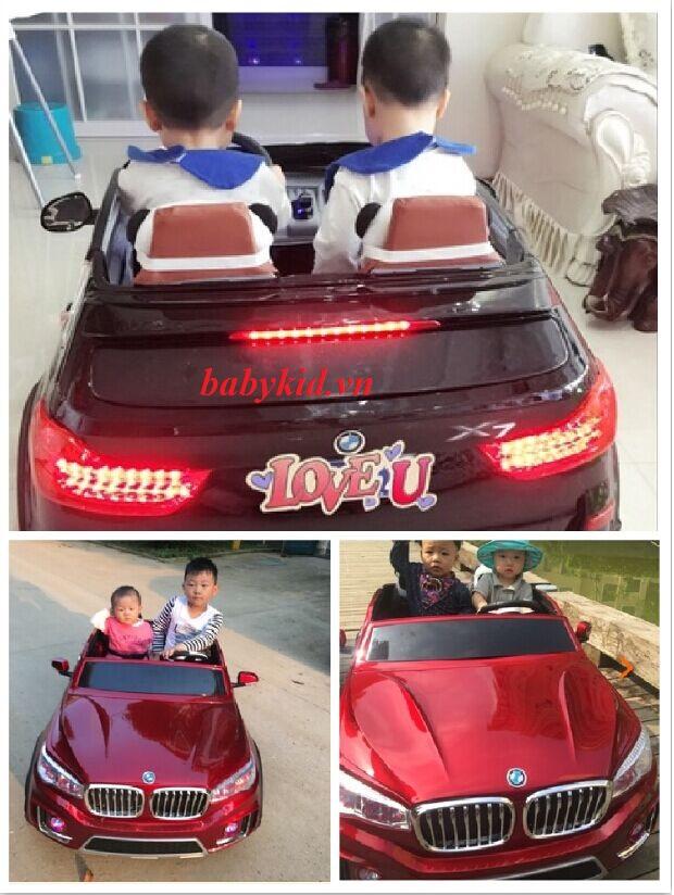 Xe ô tô điện trẻ em A-998 ( ghế thường) 2 chỗ ngồi giá rẻ