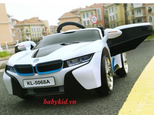 xe-ô-tô-điện-trẻ-em-KL-5068A-màu-trắng-mẫu-mới