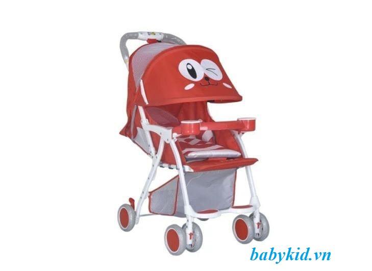 xe-đẩy-trẻ-em-711-màu-đỏ