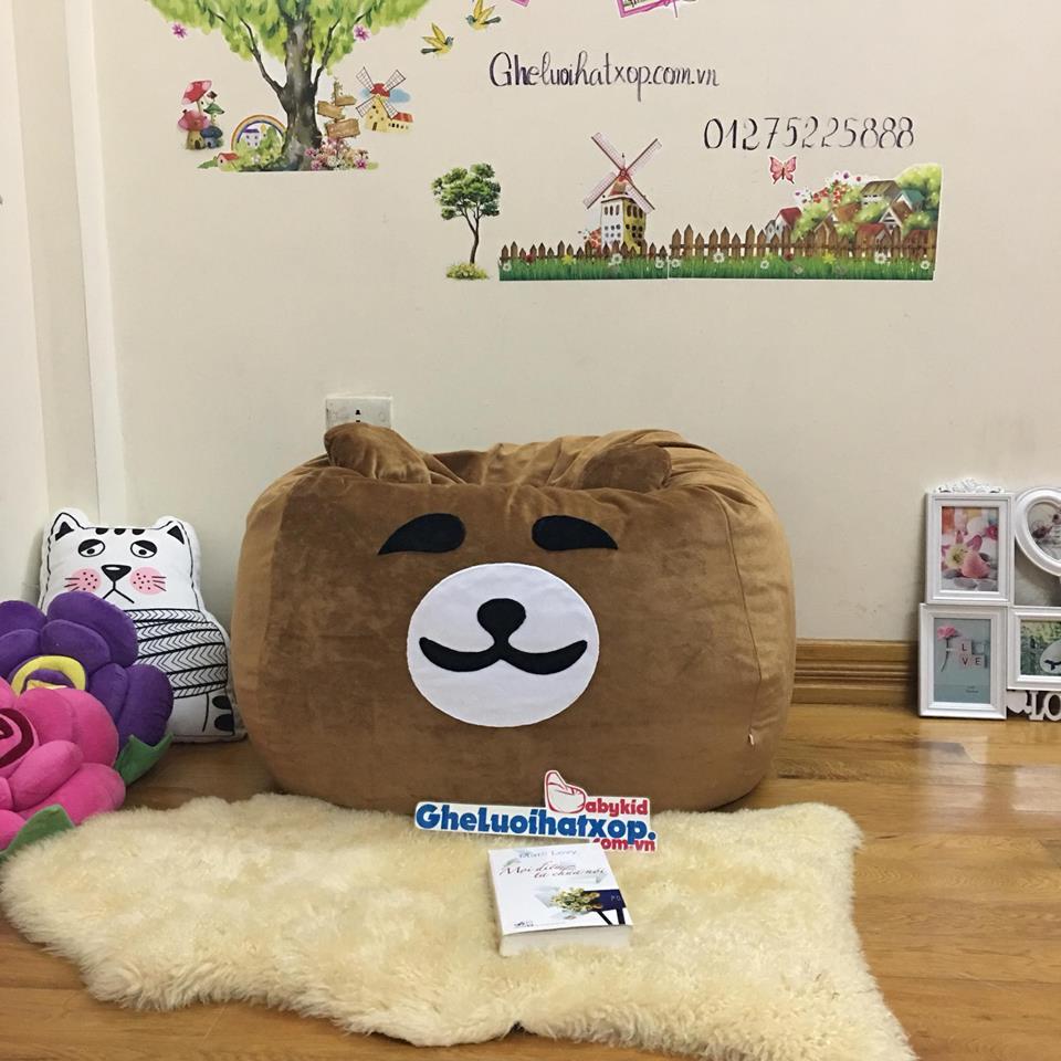 ghế lười hạt xốp hình gấu Bearr