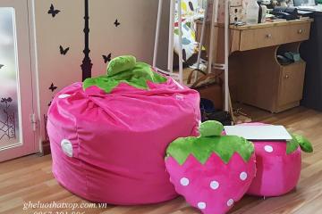 Ý tưởng trang trí phòng bé gái từ ghế lười hạt xốp