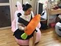 Ghế lười hạt xốp dáng Sofa hình con thỏ (1)