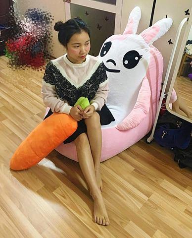 Ghế lười hạt xốp dáng Sofa hình con thỏ