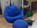 Ghế lười hạt xốp dáng lê xanh kaki GL S002