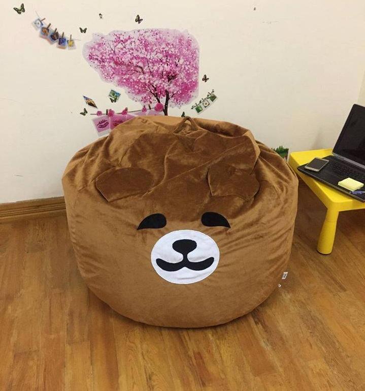 Ghế lười hạt xốp dáng lê hình gấu Bear