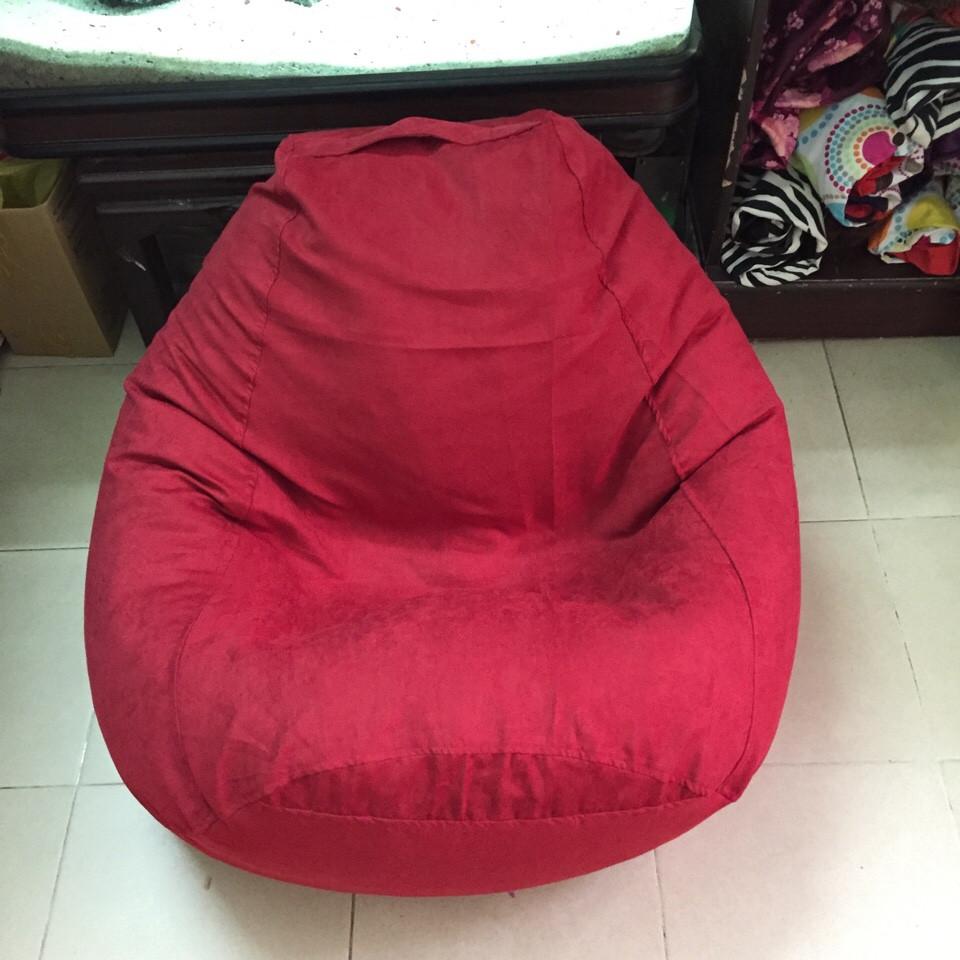 Ghế lười hạt xốp hình quả lê GL L09 màu đỏ