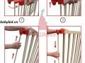 cũi gỗ 6 cánh 5d cho bé (2)