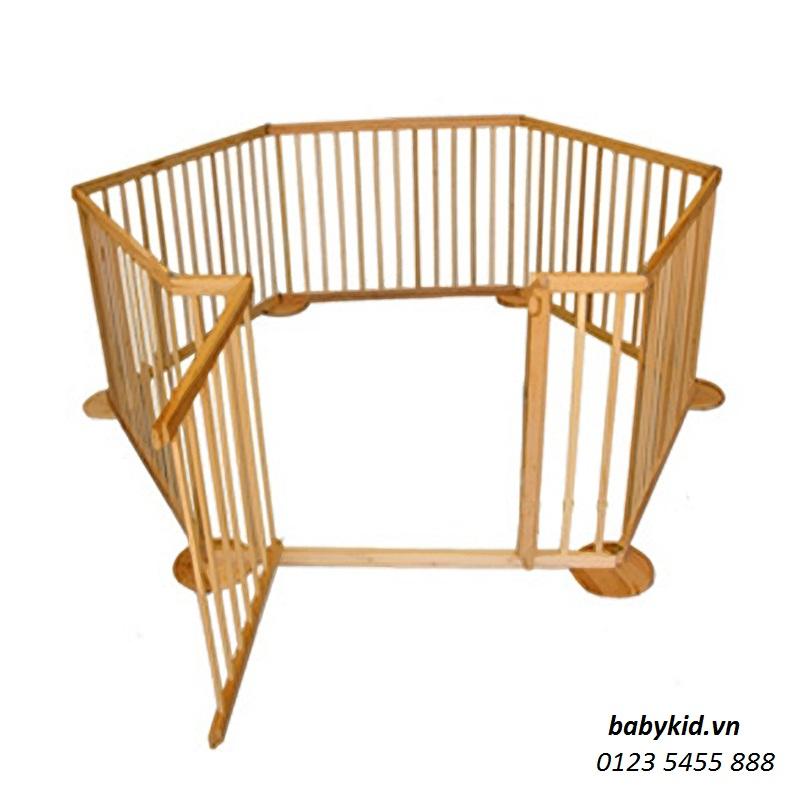 cũi gỗ 6 cánh 5d cho bé (8)
