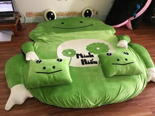 Các đặc điểm nổi bật của Nệm thú bông hình ếch xanh NTB 205