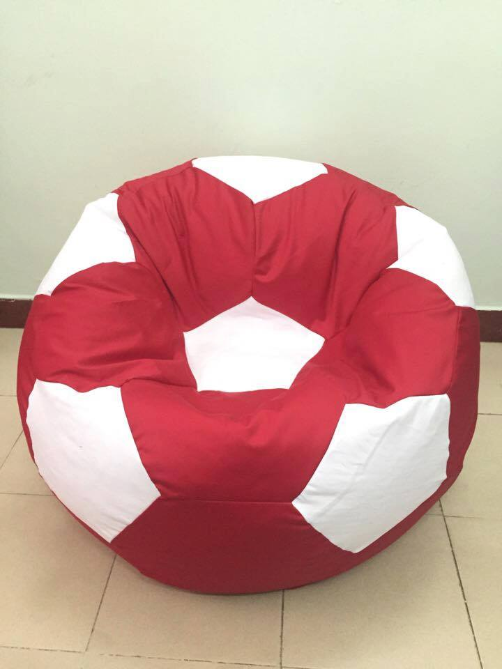 Ghế lười hạt xốp hình quả bóng vải kaki GL B001