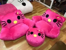 Ghế lười thú bông hình Mèo Kitty (5)
