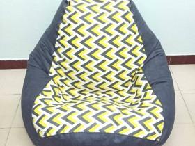 Ghế lười hạt xốp dáng lê L03 màu ghi xám (3)