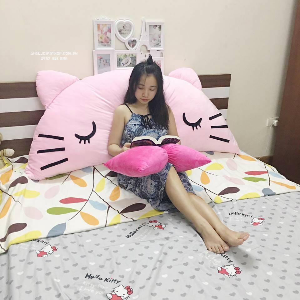 Gối tựa đầu giường Mèo Kitty GĐG01