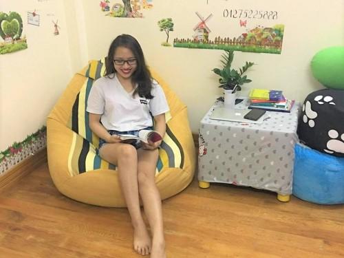 ghế lười hạt xốp thô Hàn GL – H02