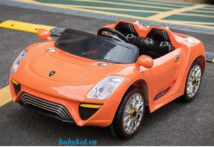 xe-ô-tô-điện-trẻ-em-WXE-9988-màu-cam