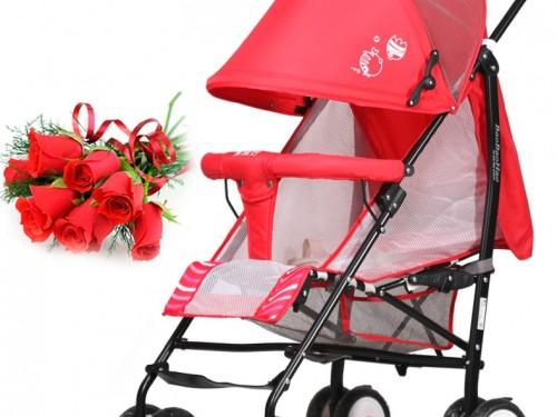 xe đẩy trẻ em 630 E đỏ 2