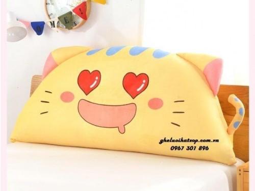 Gối tựa đầu giường hình Cat Love GĐG011 (3)