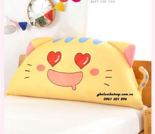 Gối tựa đầu giường hình Cat Love GĐG011